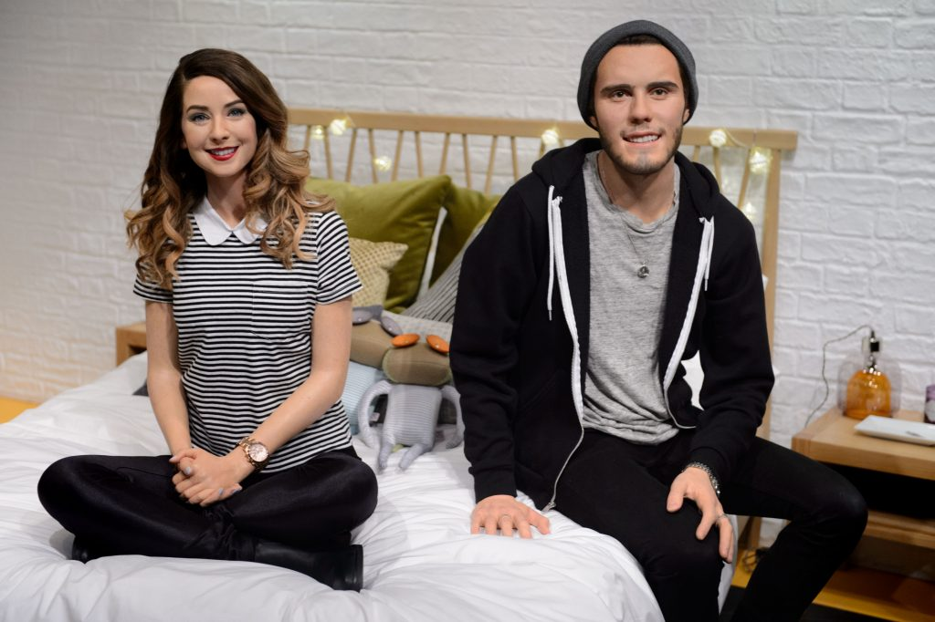Madame Tussauds London today opened the doors to a new YouTube themed area, as wax figures of two of its biggest 'vlog stars', Zoe Sugg and Alfie Deyes, moved into the world famous attraction.