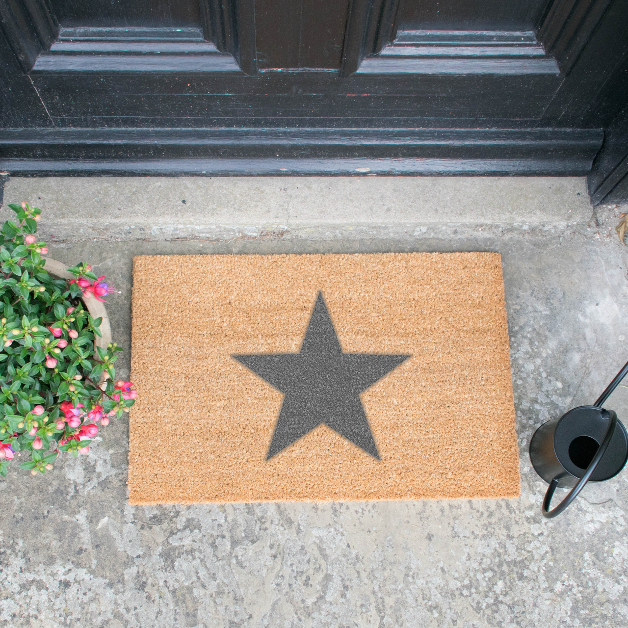 Star Grey Doormat