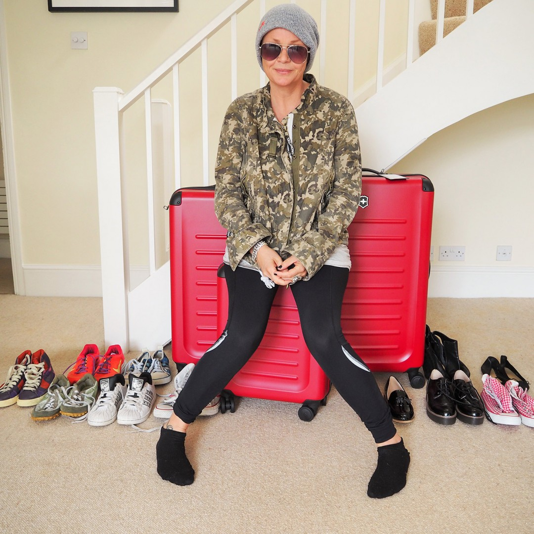 Gail Porter with cases for Big Brother