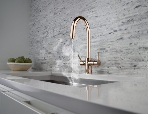 InSinkErator J Shape 3N1 Steaming Hot Water Tap in Rose Gold - lifestyle - hi